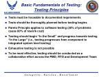 basic fundamentals of testing testing principles