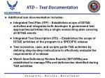 iitd test documentation