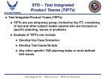 iitd test integrated product teams tipts
