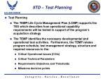 iitd test planning