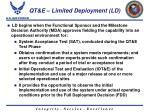 qt e limited deployment ld