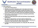qualification test and evaluation qt e