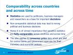 comparability across countries and across time