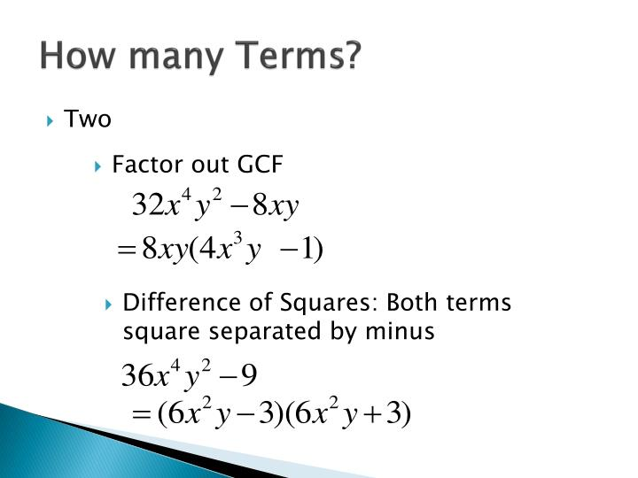 How many terms