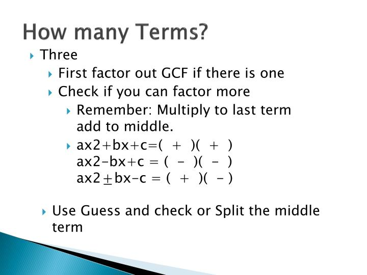 How many terms1