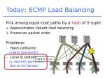 today ecmp load balancing