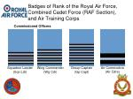 badges of rank of the royal air force combined cadet force raf section and air training corps5