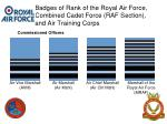 badges of rank of the royal air force combined cadet force raf section and air training corps6