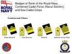 badges of rank of the royal navy combined cadet force naval section and sea cadet corps5
