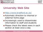 university web site