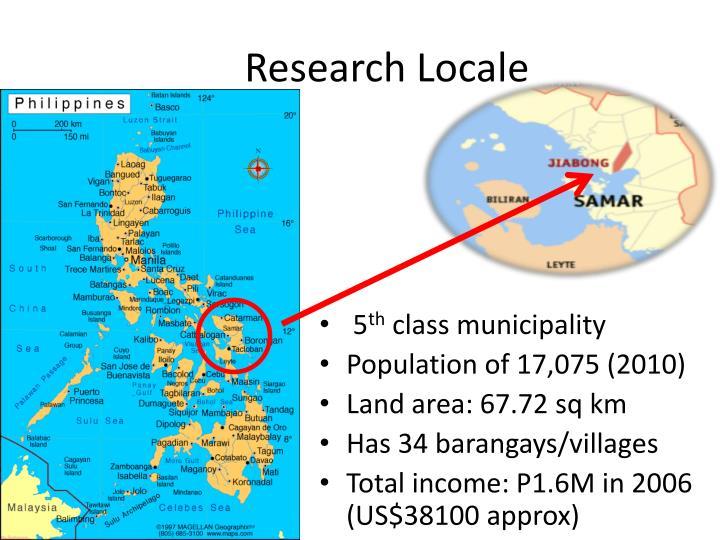 Research locale