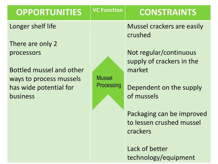 Mussel Processing