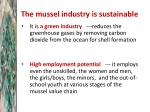 the mussel industry is sustainable