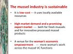 the mussel industry is sustainable1