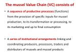 the mussel value chain vc consists of