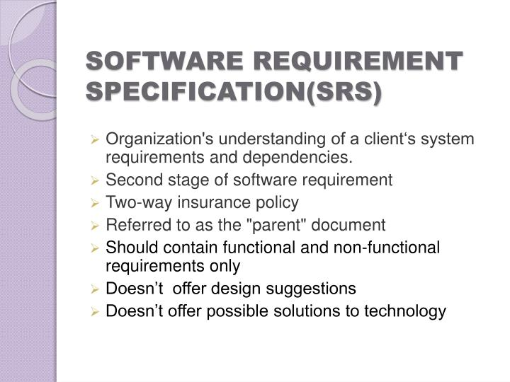 PPT Soft Wa Re Requirement Analysis And Software Requirement - Requirement specification