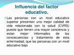 influencia del factor educativo