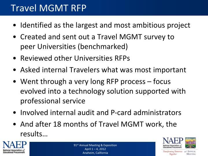 Travel MGMT RFP