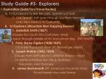 study guide 3 explorers