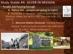 study guide 4 silver in nevada