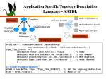application specific topology description language astdl1