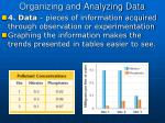 organizing and analyzing data