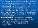 the experimental scientific method
