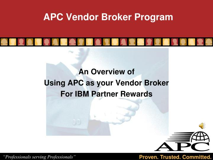 apc vendor broker program n.