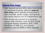 external drive arrays