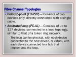 fibre channel topologies