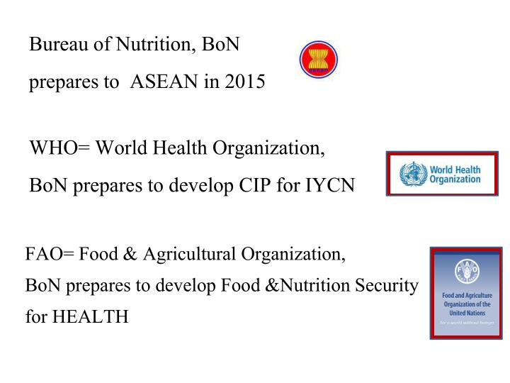 bureau of nutrition bon prepares to asean in 2015 n.
