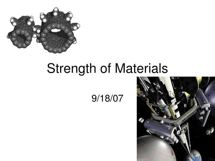 strength of materials n.