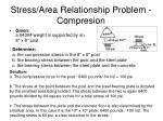 stress area relationship problem compresion