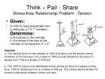 think pair share stress area relationship problem tension