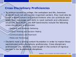 cross disciplinary proficiencies