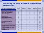how states are doing it default curricula opt out provision
