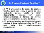 1 o que pastoral familiar