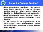o que a pastoral familiar