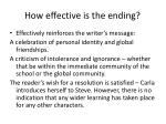 how effective is the ending