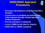 gnss rnav approach procedures