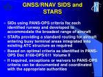 gnss rnav sids and stars