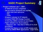 sadc project summary