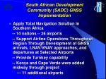 south african development community sadc gnss implementation