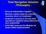 total navigation solution philosophy1