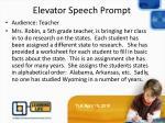 elevator speech prompt