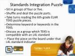 standards integration puzzle