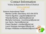 contact information ysleta independent school district www yisd net