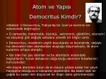 democritus kimdir