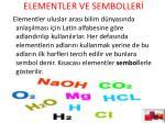 elementler ve semboller