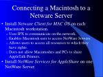 connecting a macintosh to a netware server